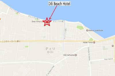 ディリビーチホテルは、海岸通り沿いにあり、一等地です。