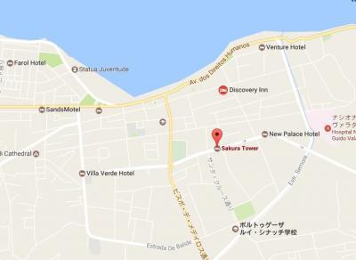 さくら・タワーホテルは、旧市街地のほぼ中心にあります。