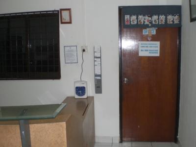 さくらタワーホテルの受付とカウンターです。サービスが良い。