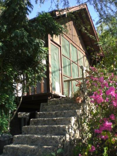 山側に、コテージタイプの施設が作られています。普通の家屋です
