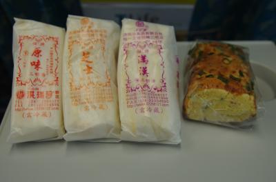 台湾のサンドイッチ、味は食べてからのお楽しみ