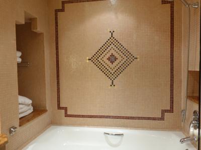 バスルームは清潔で心地よい