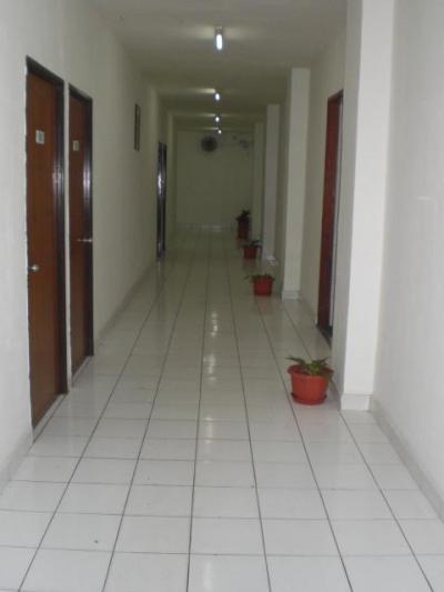 白色を基調とし、清掃の行き届いたきれい廊下です。気持ちが良い
