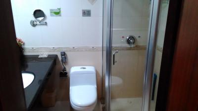 シャワールームが狭い