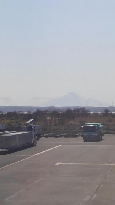 空港からも利尻富士