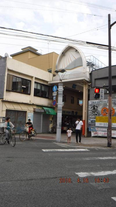 地元の商店街~屋根の有るモールです。