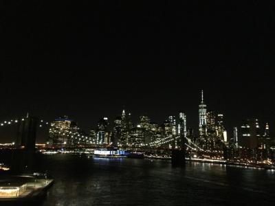 マンハッタンブリッジ側からの見たブルックリンブリッジの風景