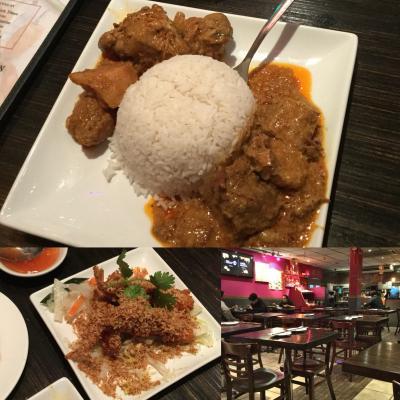 最後の晩餐は大好きなマレーシア料理。美味しくて満腹でした。