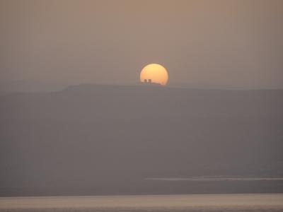 イスラエルに沈む夕陽