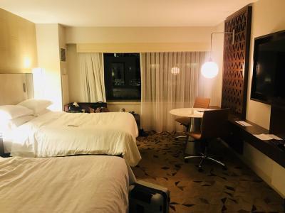 2ベッドの客室内。とても広くて綺麗でした!