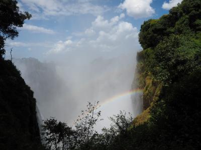 昼のビクトリアの滝観光ならジンバブエ側