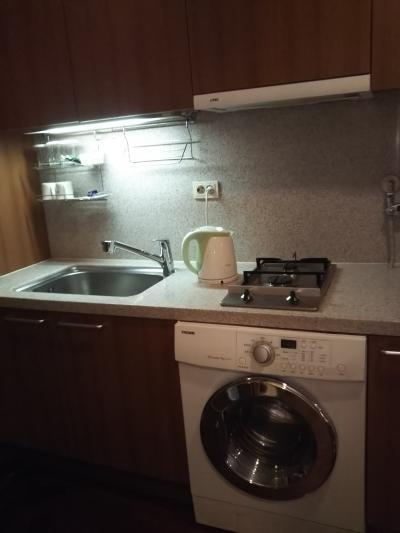 部屋に洗濯機がついてます