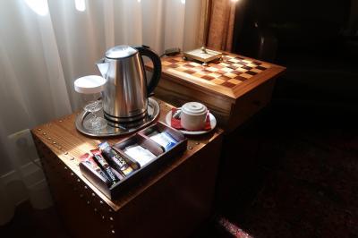 チェスセットはレセプションで貸し出ししてもらえるようです。