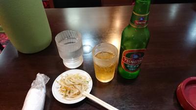 青島ビールとつまみ