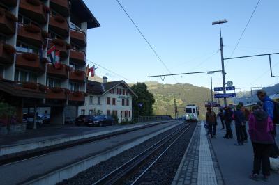 ユングフラウヨッホ行きの電車はここから。