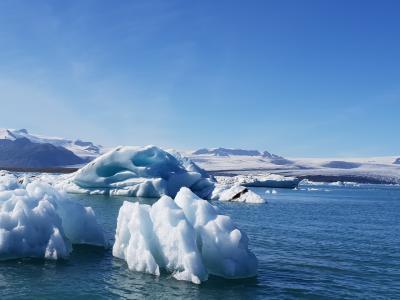 青くて綺麗な氷