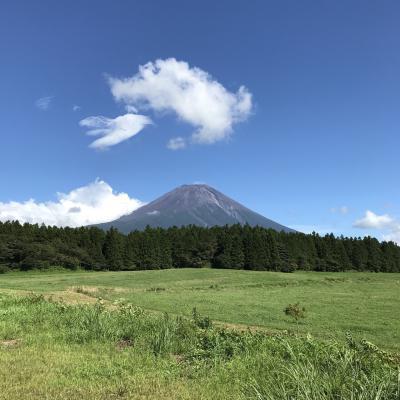 富士山は目の前