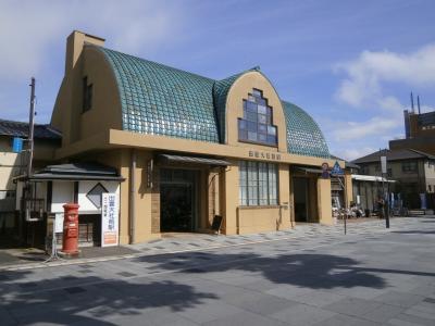 松江しんじ湖温泉駅から一畑電車で出雲大社前まで来ました。