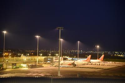 スキポ-ル空港が見えます