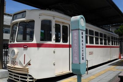 珍しい足で操作の電車でした