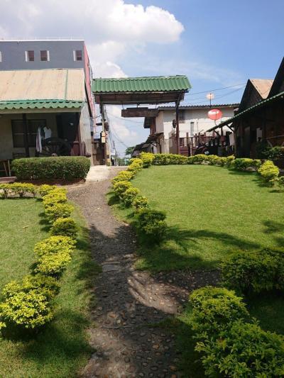 シュガーケーンGHの中庭です。広くてきれいな敷地です。