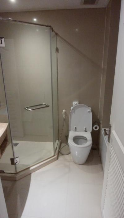 シャワールームとバスタブは別なので便利です。
