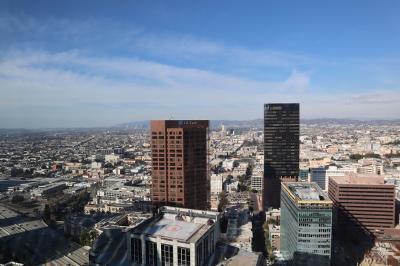 ハリウッドからサンタモニカまでが見渡せる高層のホテル