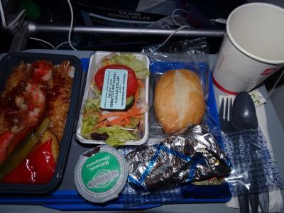 3つのコースから選べる機内食