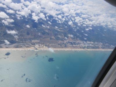 アラカジュ空港着陸寸前の海岸線の美しさ