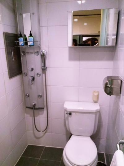 シャワ室の便座が濡れる対策として