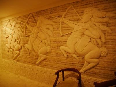 廊下の塩壁画