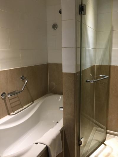 バスルームもバスタブとシャワー室あり