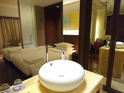 宿泊した部屋です、洗面台がオシャレでした