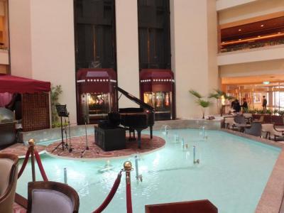 台北福華大飯店一階の風景