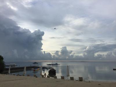 プライベートビーチは小さめ。でも熱帯魚います。、