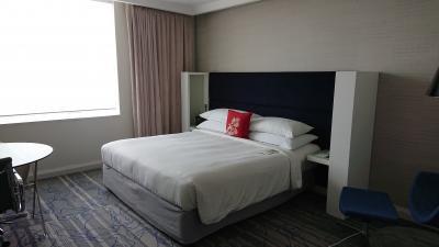 客室のベッドは十分な広さです。