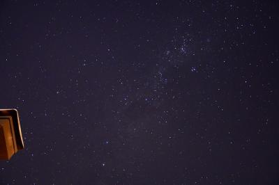 部屋のデッキから星空が堪能できます。