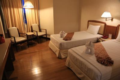 ツインベッドのお部屋、ベッドはシングルサイズ