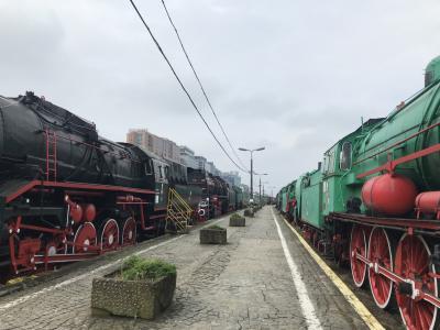 本物の機関車がいっぱい