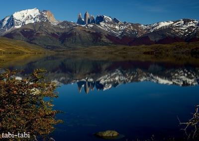 パイネ国立公園の端の穴場的な湖