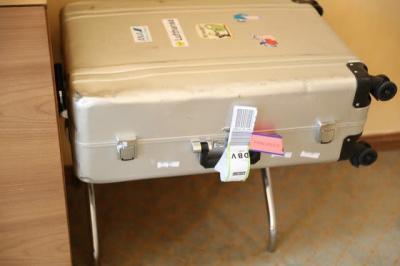 届いたスーツケース