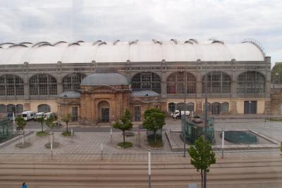 目に前にドレスデン中央駅