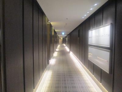 ラウンジにつながる廊下