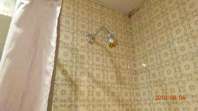 二度目の宿泊。頑張って要求してみたけど、やはり固定式のシャワーだった!