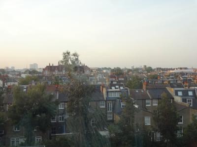 客室の窓からの景色
