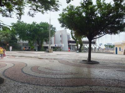 媽閣廟に面した広場