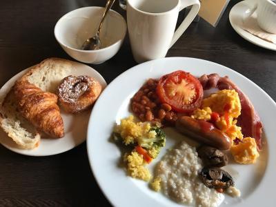 朝食ブッフェの一部