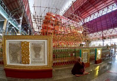 その仏像様、ただいま工事中につき...ミャンマー最大級の「涅槃像」(ヤンゴン/ミャンマー)