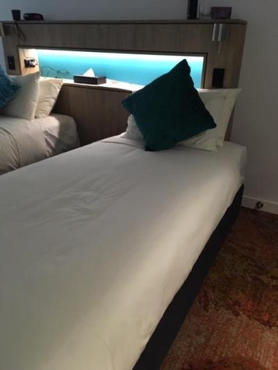 もうすこしベッドの幅が欲しかった