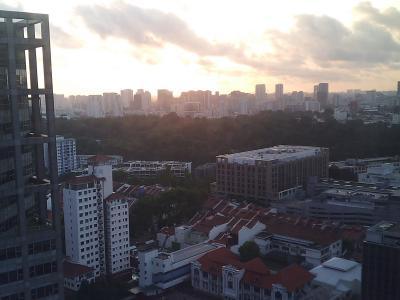 26階の部屋からの眺望
